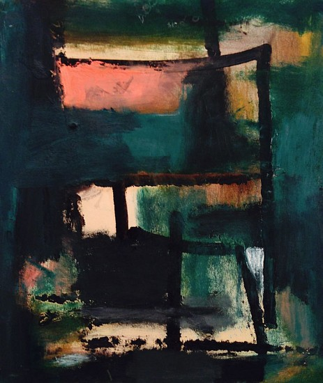 Gertrude Greene ,   Untitled | SOLD  ,  c. 1953     Oil on paper ,  10 x 9 in. (25.4 x 22.9 cm)     SOLD     GBR-00007