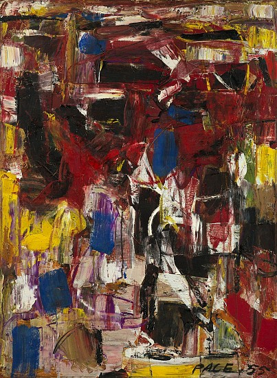 Stephen Pace ,   Untitled (55-25) | SOLD  ,  1955     Oil on canvas ,  30 x 22 in. (76.2 x 55.9 cm)     SOLD     PAC-00050
