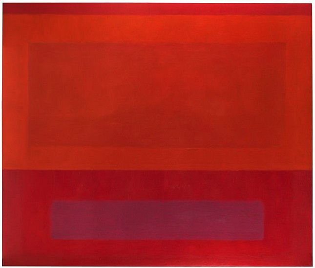 Perle Fine ,   Cool Series (Red over Orange over Purple) | SOLD  ,  c. 1961-1963     Oil on canvas ,  60 x 70 in. (152.4 x 177.8 cm)     SOLD © AE Artworks     FIN-00027
