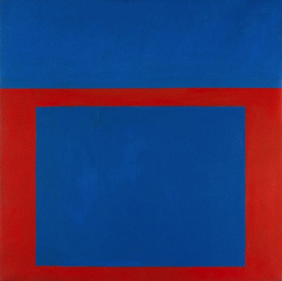 Perle Fine ,   Cool Series No.7, Square Shooter  ,  c. 1961-1962     Oil on canvas ,  40 x 40 in. (101.6 x 101.6 cm)     © AE Artworks     FIN-00013