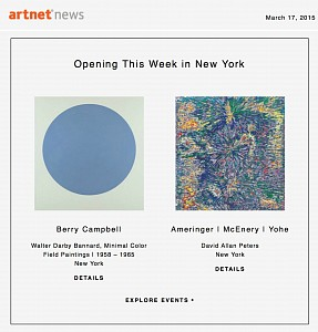 News: Berry Campbell featured on Artnet, March 17, 2015
