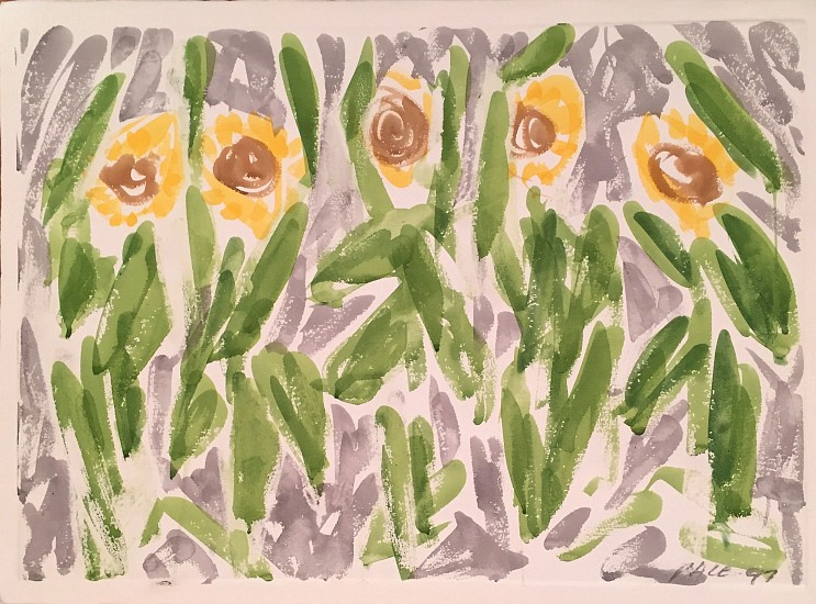 Stephen Pace ,   Sunflower Chorus (97-W4) | SOLD  ,  1997     Watercolor on paper ,  22 x 30 in. (55.9 x 76.2 cm)     PAC-00098