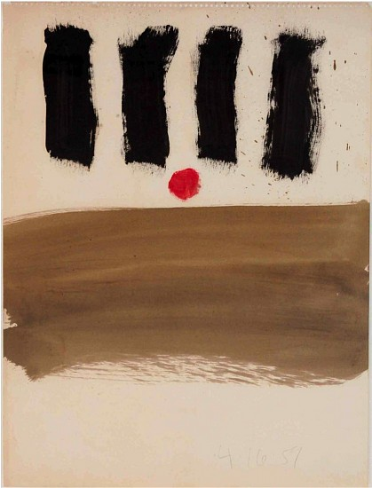 Walter Darby Bannard ,   Untitled  ,  1959     Brushed alkyd resin on paper ,  24 x 18 in. (61 x 45.7 cm)     BAN-00121