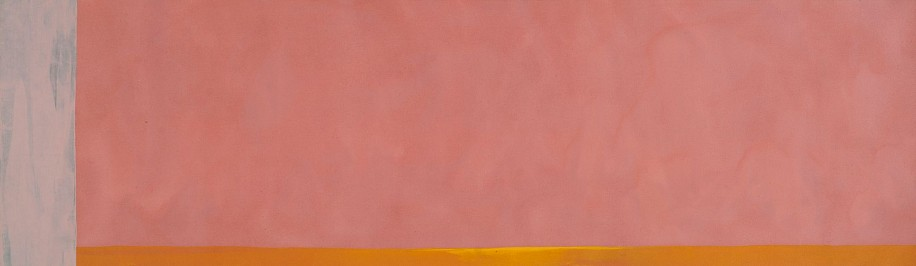 Dan Christensen ,   Alhera Bloom  ,  1971     Acrylic on canvas ,  116 x 34 in. (294.6 x 86.4 cm)     CHR-00160