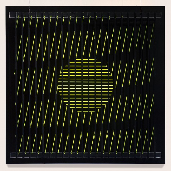 John Goodyear ,   The Light Source | SOLD  ,  1963     Acrylic on plastic with aluminum light box ,  24 x 24 x 6 in. (61 x 61 x 15.2 cm)     SOLD     GOO-00042