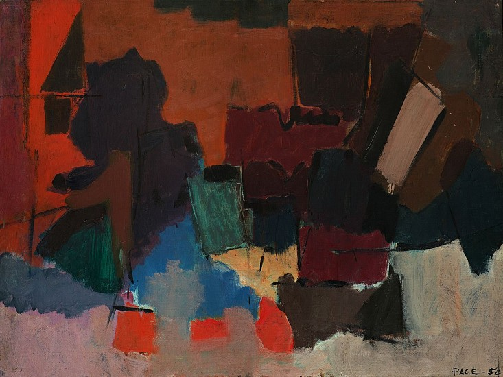 Stephen Pace ,   Untitled (50-2) | SOLD  ,  1950     Oil on canvas ,  24 1/2 x 32 1/2 in. (62.2 x 82.5 cm)     SOLD     PAC-00161