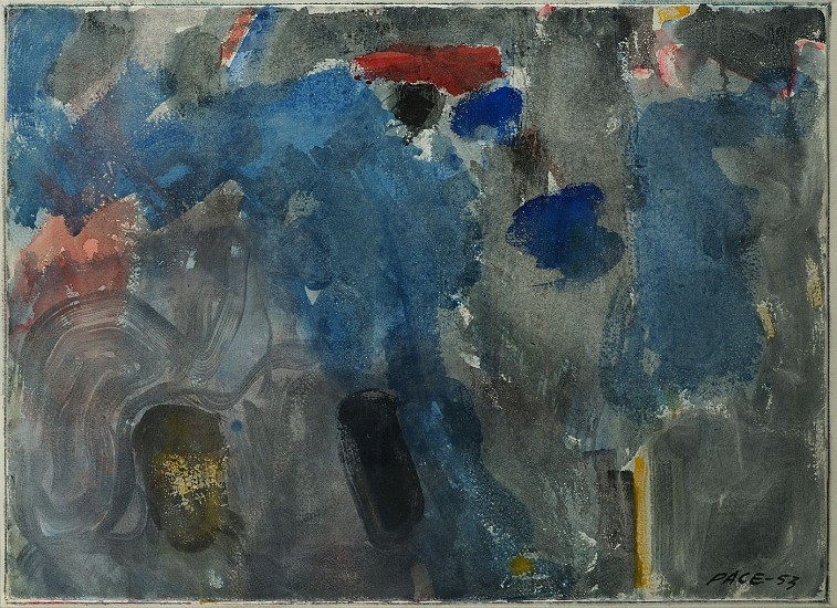 Stephen Pace ,   Untitled (53-W21A) | SOLD  ,  1953     Watercolor on paper ,  31 x 39 in. (78.7 x 99.1 cm)     SOLD     PAC-00154