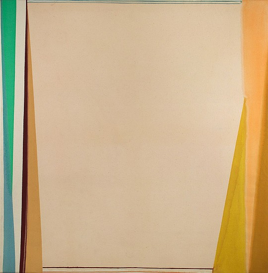 Larry Zox ,   Open White  ,  c. 1974     Acrylic on canvas ,  59 x 58 1/8 in.     ZOX-00011