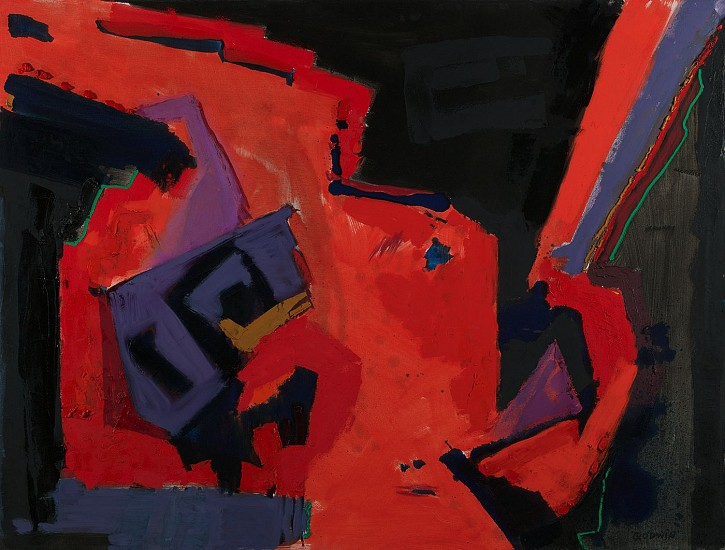 Judith Godwin ,   Occident | SOLD  ,  1982     Oil on canvas ,  46 x 60 in. (116.8 x 152.4 cm)     SOLD     GOD-00011