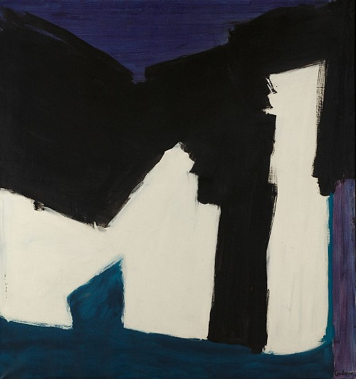 Judith Godwin ,   Black Support | SOLD  ,  1960     Oil on canvas ,  52 x 49 in. (132.1 x 124.5 cm)     SOLD     GOD-00021
