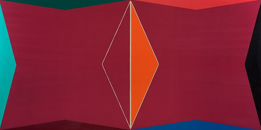 Larry Zox ,   Untitled, Double Gemini  ,  1969     Acrylic, epoxy on canvas ,  50 x 100 in. (127 x 254 cm)     ZOX-00018