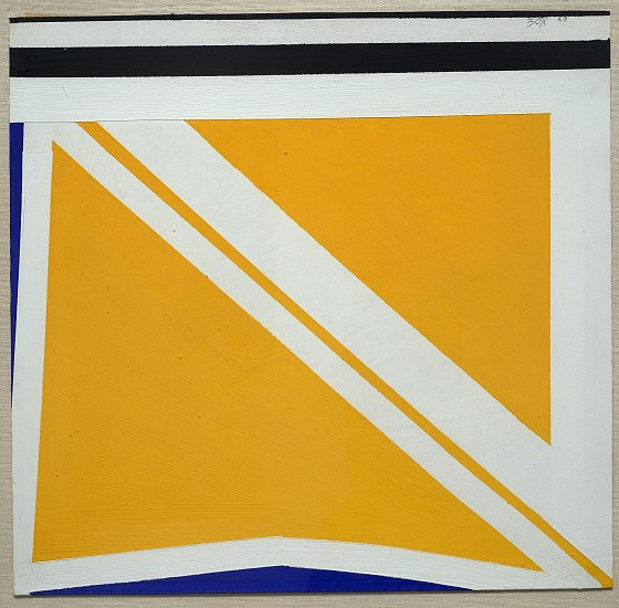 Larry Zox ,   Yellow Diagonal  ,  1963     Collage on board ,  14 1/4 x 15 in. (36.2 x 38.1 cm)     ZOX-00078