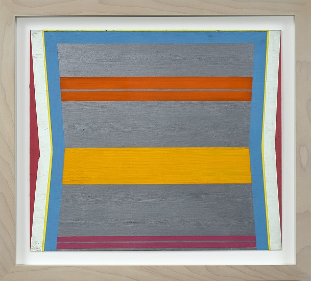 Larry Zox ,   Aluminum Bands | SOLD  ,  1964     Acrylic on paper ,  14 x 16 in. (35.6 x 40.6 cm)     ZOX-00079