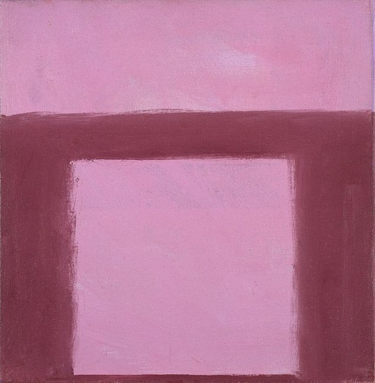 Perle Fine ,   Cool Series (Plum over Pink) | SOLD  ,  c. 1961-1963     Oil on canvas ,  12 x 12 in. (30.5 x 30.5 cm)     SOLD © AE Artworks     FIN-00012