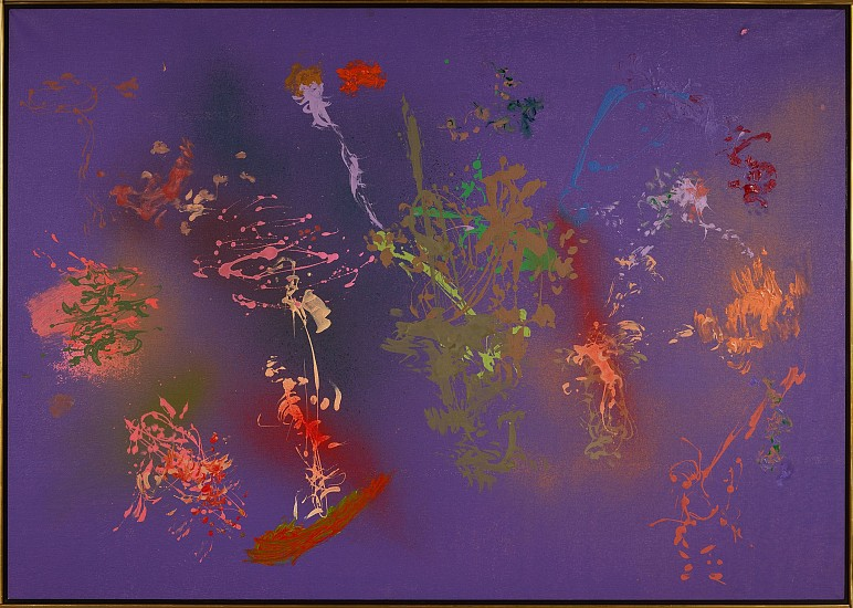 Albert Stadler ,   Untitled (169)  ,  c. 1975     Acrylic on canvas ,  57 1/2 x 82 1/2 in. (146.1 x 208.3 cm)     169     STA-00061
