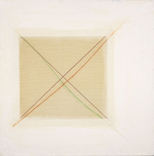 Ann Purcell ,   White Space Series #5  ,  1976     Acrylic on canvas ,  24 x 24 in. (61 x 61 cm)     PUR-00103