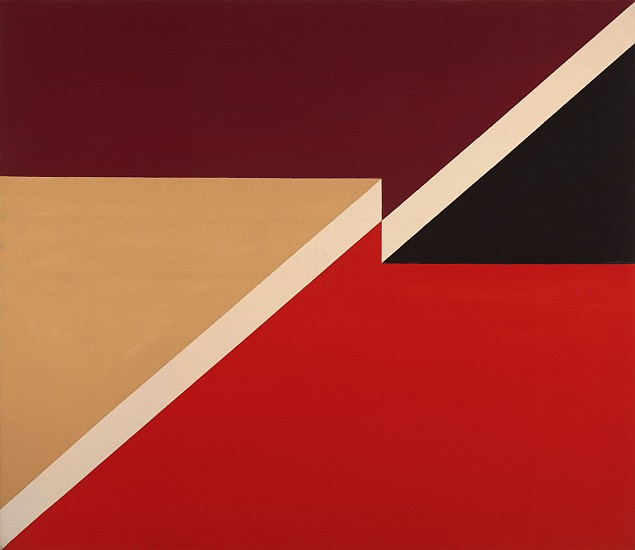 Larry Zox ,   Diagonal  ,  1966     Acrylic on canvas ,  60 x 70 in. (152.4 x 177.8 cm)     ZOX-00099