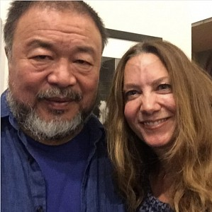 News: Ai Weiwei and Christine Berry at the Premiere of Human Flow, October  8, 2017