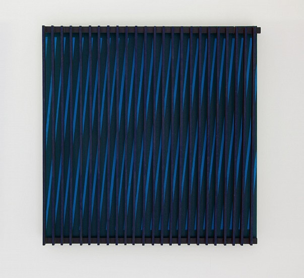 John Goodyear ,   Blue and Black Kinetic Construction  ,  1964     Acrylic on canvas and wood ,  24 x 24 x 4 in. (61 x 61 x 10.2 cm)     GOO-00025