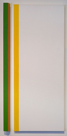 John Goodyear ,   Couplet  ,  2015     Acrylic on canvas and wood ,  40 x 19 x 3 in. (101.6 x 48.3 x 7.6 cm)     GOO-00044