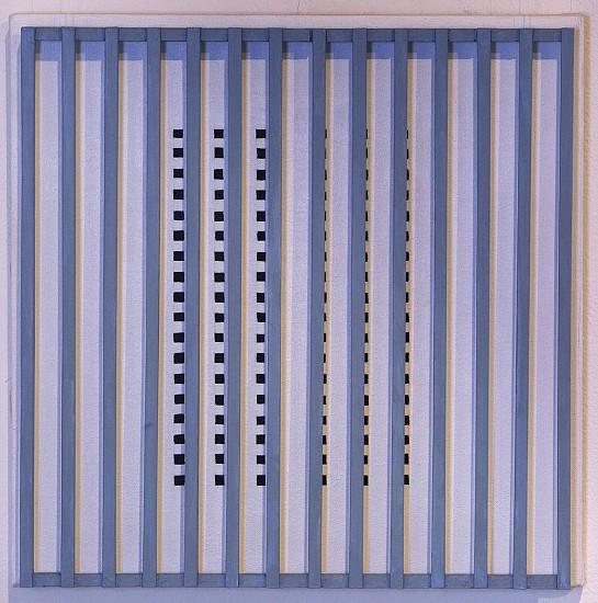 John Goodyear ,   Spot Shift  ,  1995     Acrylic on canvas and wood ,  14 x 14 x 3 in. (35.6 x 35.6 x 7.6 cm)     GOO-00038