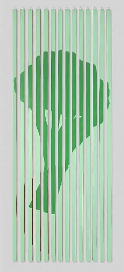 John Goodyear ,   Food for Thought  ,  2011     Acrylic paint on vinyl bars ,  96 x 39 x 6 in. (243.8 x 99.1 x 15.2 cm)     GOO-00031