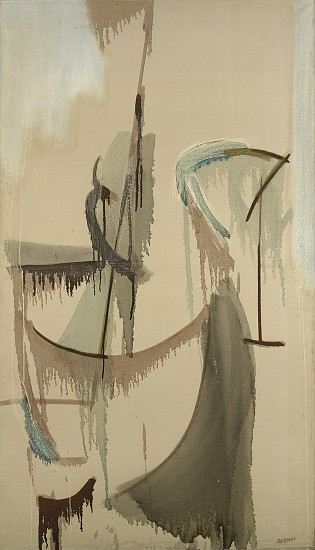 Judith Godwin ,   Rain | SOLD  ,  1955     Oil on canvas ,  68 x 39 in. (172.7 x 99.1 cm)     GOD-00047