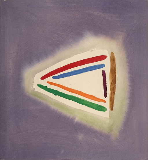 William Perehudoff ,   Triangle #1  ,  1987     Acrylic on canvas ,  32 x 34 in. (81.3 x 86.4 cm)     PER-00064