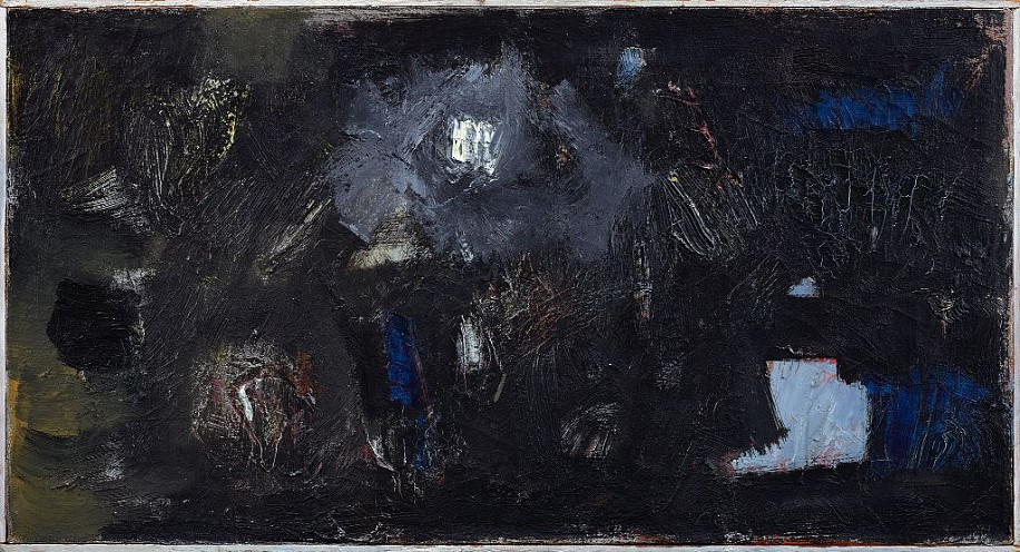Yvonne Thomas ,   In the Night  ,  1955     Oil on canvas ,  16 x 30 in. (40.6 x 76.2 cm)     THO-00071