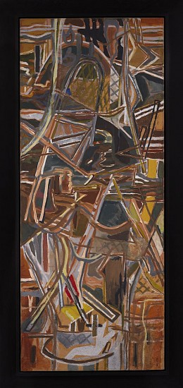 Perle Fine ,   Untitled | SOLD  ,  c. 1950     Oil on canvas ,  71 x 29 in. (180.3 x 73.7 cm)     FIN-00085