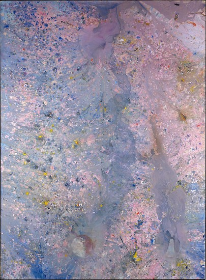 Frank Bowling ,   Around Midnight Last Night | SOLD  ,  1982     Acrylic on canvas ,  95 1/4 x 69 1/2 in. (241.9 x 176.5 cm)     BOW-00010