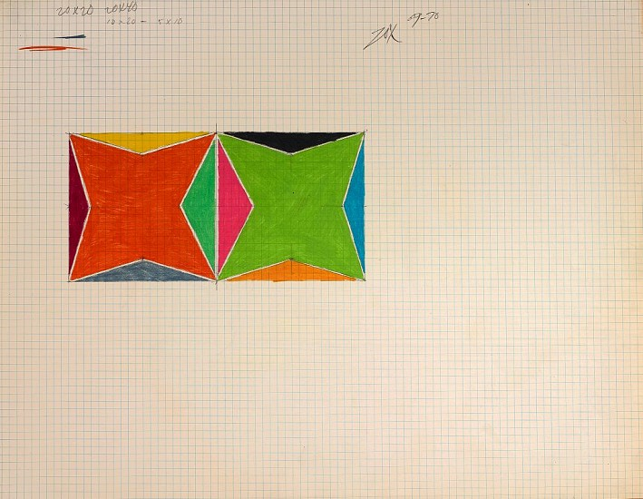 Larry Zox ,   Untitled  ,  1969-70     Colored Pencil & Graphite on Paper ,  17 1/8 x 22 1/8 in. (43.5 x 56.2 cm)     ZOX-00111