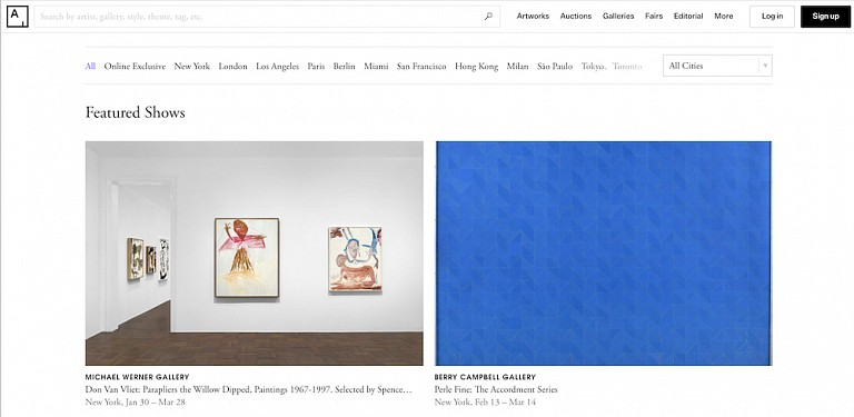 News: Perle Fine: The Accordment Series featured on Artsy, February 18, 2020 - Artsy