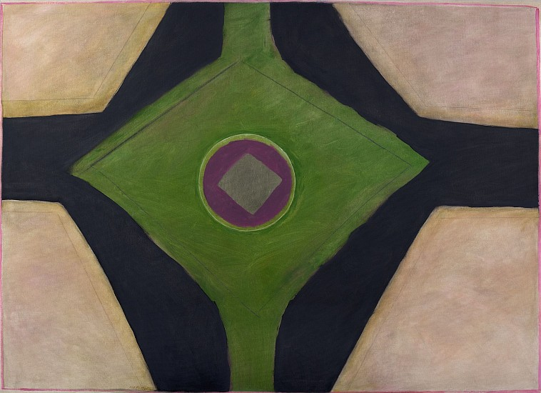 Ida Kohlmeyer ,   Geometric | SOLD  ,  c. 1968     Mixed media on canvas ,  46 1/4 x 64 1/4 in. (117.5 x 163.2 cm)     KOH-00013