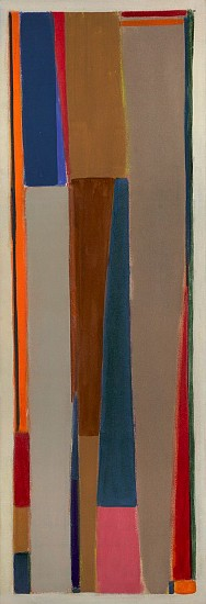 John Opper ,   Untitled (#5-67)  ,  1967     Acrylic on canvas ,  72 x 21 in. (182.9 x 53.3 cm)     OPP-00003