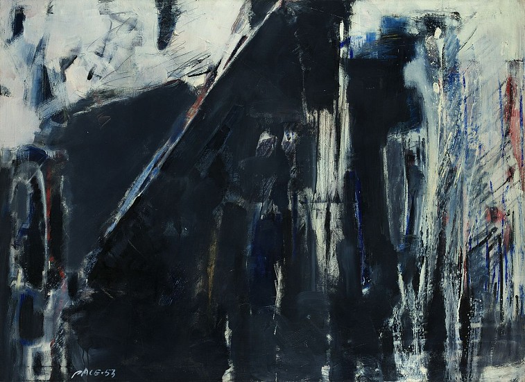 Stephen Pace ,   Untitled (53-5)  ,  1953     Oil on canvas ,  36 x 50 in. (91.4 x 127 cm)     PAC-00166