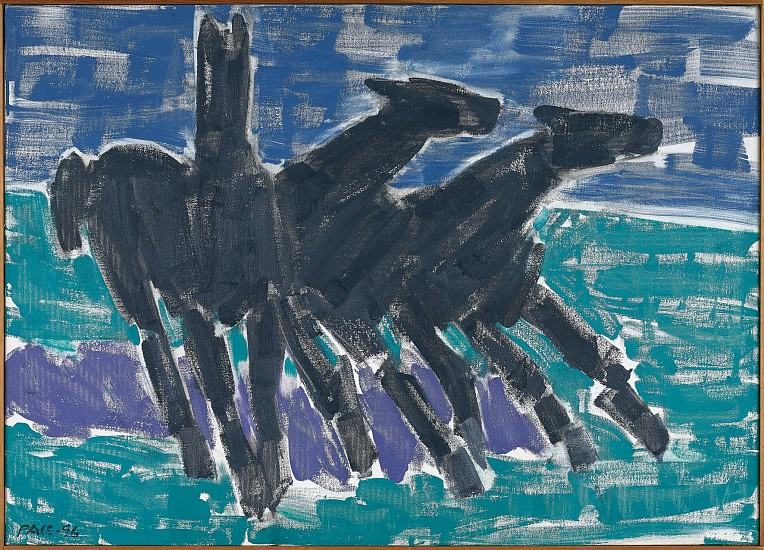Stephen Pace ,   Wild Horses #2 (96-11)  ,  1996     Oil on canvas ,  24 1/2 x 30 1/2 in. (62.2 x 77.5 cm)     PAC-00179
