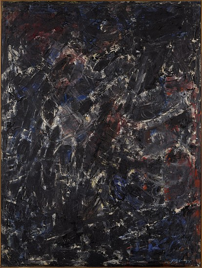 Stephen Pace ,   Aftermath (55-19)  ,  1955     Oil on canvas ,  71 x 53 in. (180.3 x 134.6 cm)     PAC-00088