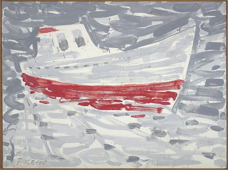 Stephen Pace ,   Sardine Boat in Fog (90-5)  ,  1990     Oil on canvas ,  34 x 36 in. (86.4 x 91.4 cm)     PAC-00239