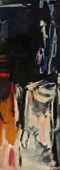 Stephen Pace ,   Untitled  ,  1953     Oil on canvas ,  80 x 28 in. (203.2 x 71.1 cm)     PAC-00119