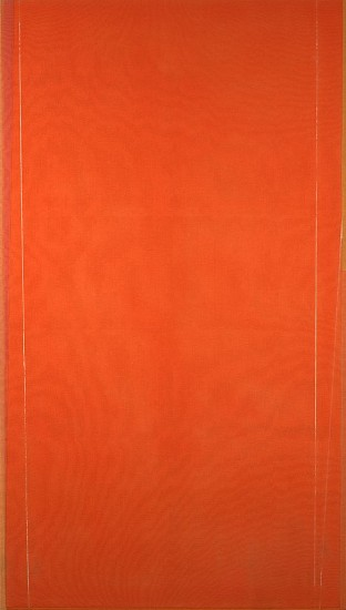 Larry Zox ,   Untitled (orange)  ,  1974     Acrylic on canvas ,  85 x 48 1/4 in. (215.9 x 122.6 cm)     ZOX-00135