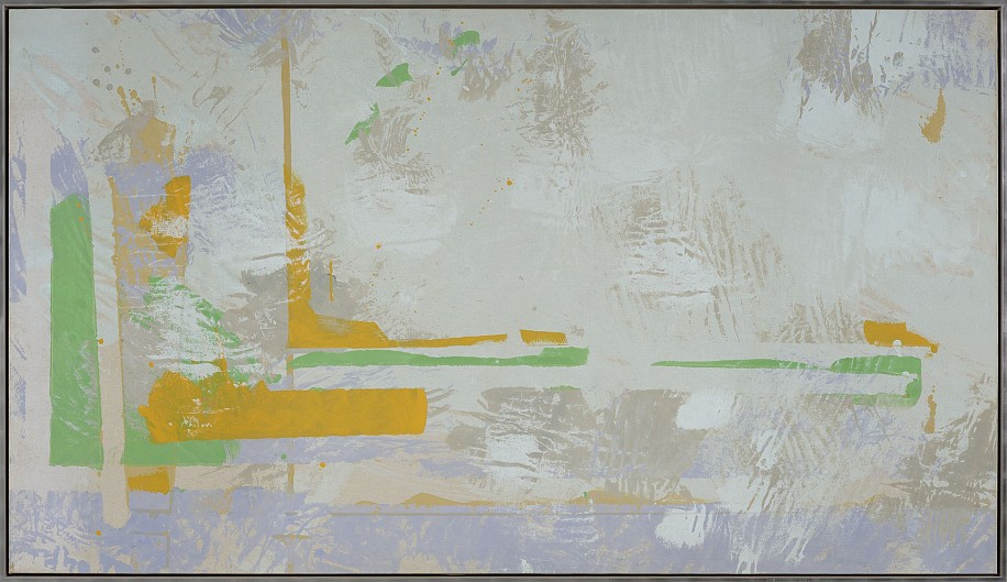 Walter Darby Bannard ,   The Plains #1  ,  1970     Acrylic on canvas ,  44 1/2 x 78 in. (113 x 198.1 cm)     BAN-00205