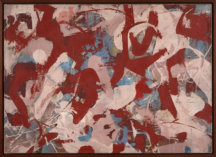 James Brooks ,   Z | SOLD  ,  1951     Oil on canvas ,  36 x 54 in. (91.4 x 137.2 cm)     BRO-00004