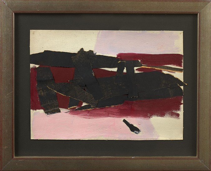 Perle Fine ,   Untitled Study  ,  ca. 1952     Collage on canvas ,  9 1/2 x 13 in. (24.1 x 33 cm)     FIN-00033